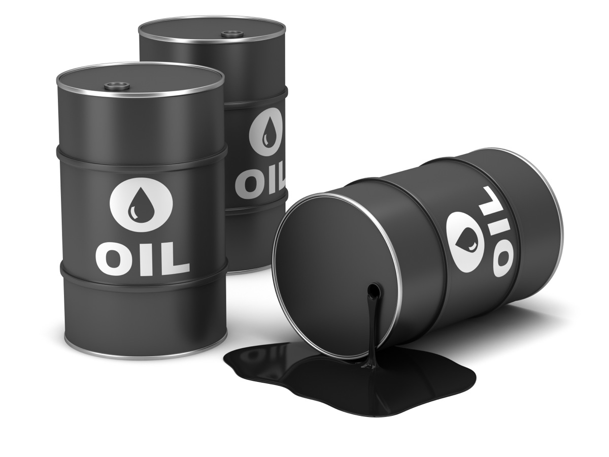 crude oil barrels